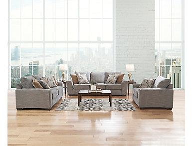 Beckett Silver Sofa, , large
