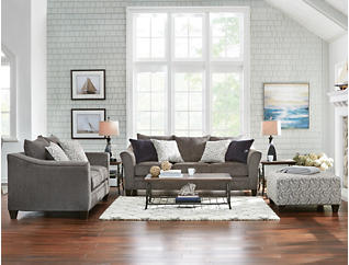 Fabulous Albany Pewter 3 Piece Sectional Outlet At Art Van Ocoug Best Dining Table And Chair Ideas Images Ocougorg