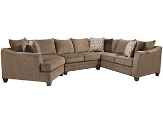 Albany Truffle 9 Piece Living Room Package, , large