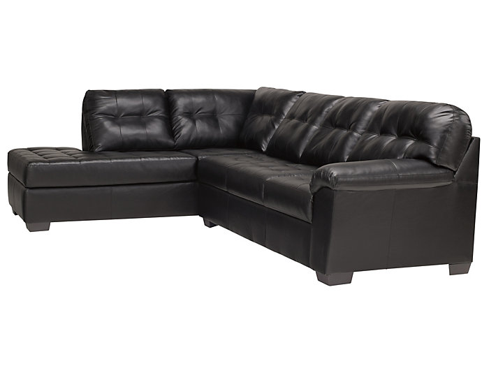 Simmons Soho II 7-Piece Right-Arm Facing Bump Chaise Sleeper                    Sectional, Onyx, , large