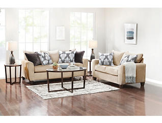 Reed Tan 7PC Room Package, , large
