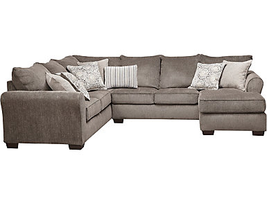 Harlow Ash 2 Piece Sleeper Sectional, , large