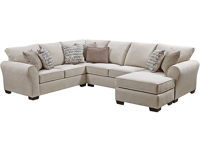 Harlow Linen 2 Piece Sleeper Sectional Large