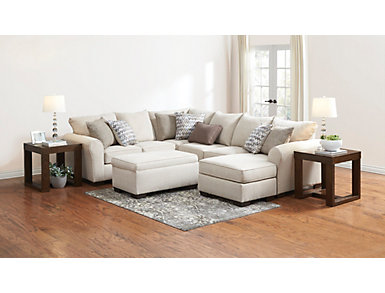 Harlow Linen 2 Piece Sleeper Sectional, , large