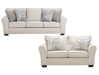 Harlow Linen Sofa & Loveseat, , large