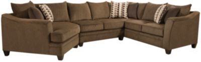 Albany 3 Piece Sectional, Truffle, Chestnut, swatch