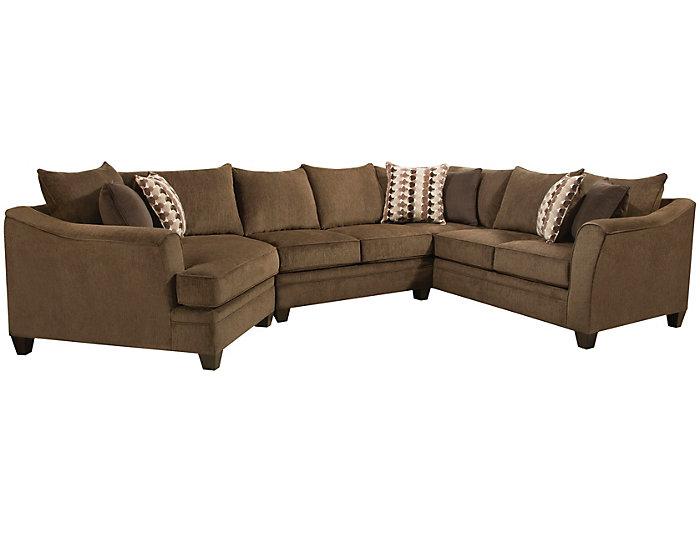 Marvelous Albany Chesnutt 3 Piece Sectional Ibusinesslaw Wood Chair Design Ideas Ibusinesslaworg