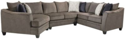 Albany 3 Piece Sectional, Truffle, Pewter, swatch