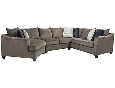 Albany Truffle 3 Piece Sectional, Grey, large