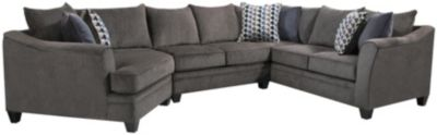 Albany 3 Piece Sectional, Truffle, Slate, swatch