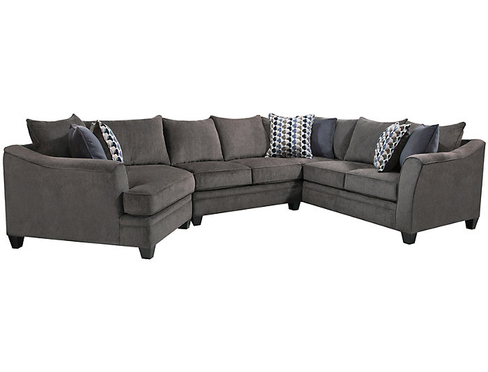 Marvelous Albany Slate 3 Piece Sectional Outlet At Art Van Theyellowbook Wood Chair Design Ideas Theyellowbookinfo