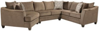 Albany 3 Piece Sectional, Truffle, Truffle, swatch