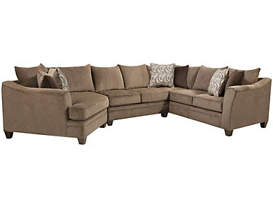 Albany 3 Piece Sectional, Truffle, Truffle, large