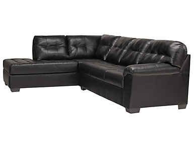 Soho II 2-Piece Left-Arm Facing Bump Chaise Sectional, Onyx, , large