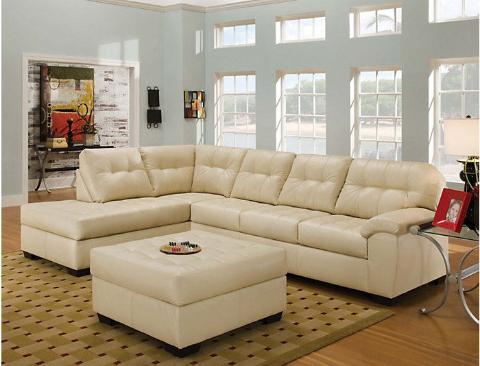Soho Ii Pearl 2 Piece Sectional Left Arm Facing P Chaise Large