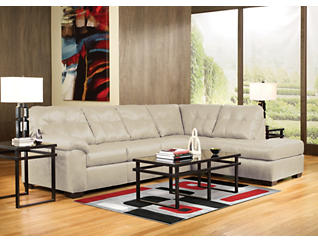 Soho II Pearl 2 Piece Sectional with Right-Arm Facing Chaise, , large