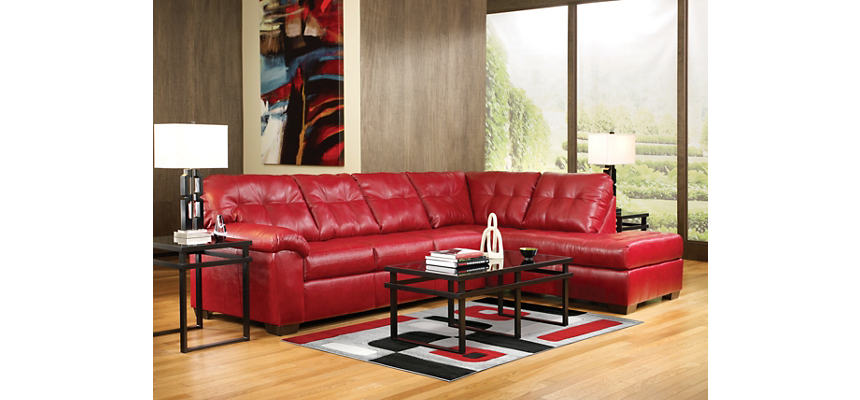 Brilliant Soho Ii Red 2 Piece Sectional With Right Arm Facing Chaise Ocoug Best Dining Table And Chair Ideas Images Ocougorg