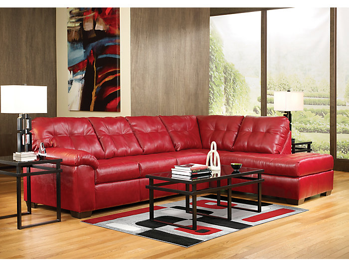 Surprising Soho Ii Red 2 Piece Sectional With Right Arm Facing Chaise Ocoug Best Dining Table And Chair Ideas Images Ocougorg