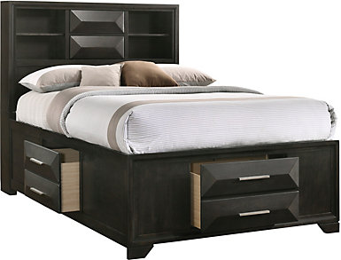 Aria Full Storage Bed, , large