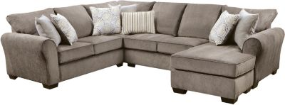 Harlow Sectional, Ash, Grey, swatch