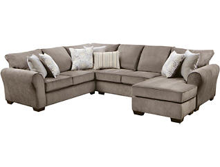Harlow Ash 2 Piece Sectional, Grey, large