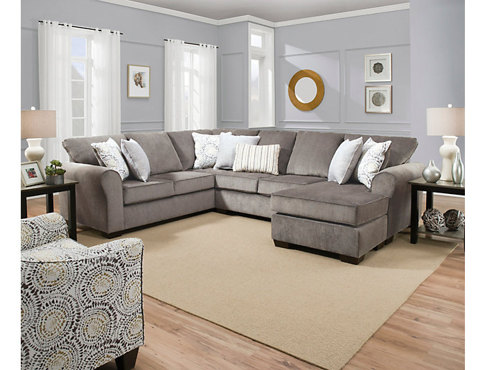 Admirable Harlow Ash 2 Piece Sectional Unemploymentrelief Wooden Chair Designs For Living Room Unemploymentrelieforg