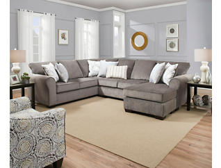 Harlow Ash 2 Piece Sectional, Ash, large