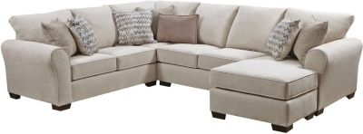 Harlow Ash 2 Piece Sectional, Linen, swatch