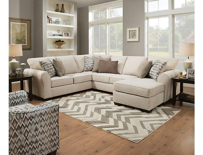 Wondrous Harlow Linen 2 Piece Sectional Outlet At Art Van Theyellowbook Wood Chair Design Ideas Theyellowbookinfo