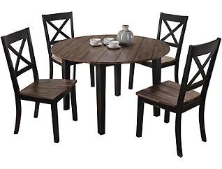 La Cart 5pc Round Table Set, , large