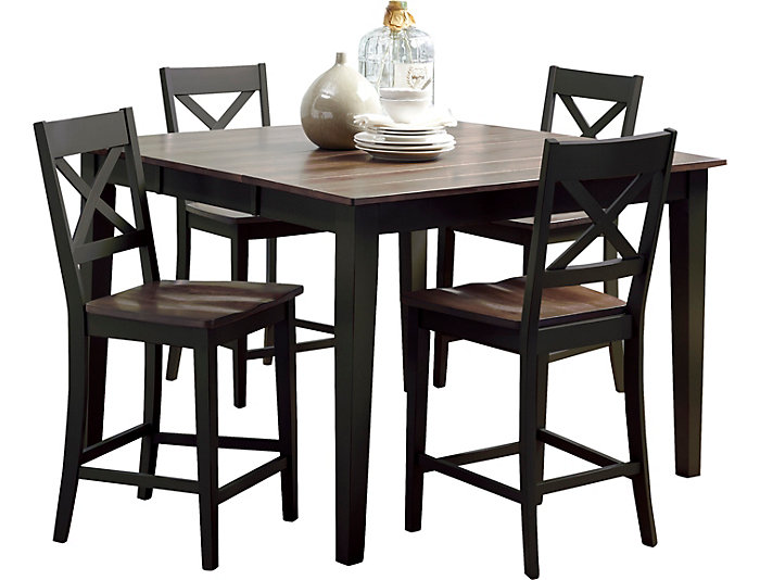 Art Van Dining Room Tables: A La Carte Black 5 Piece Counter Table Set
