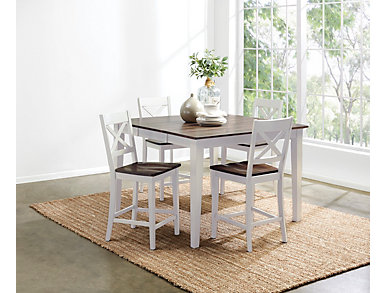 Counter table and 4 stools, , large