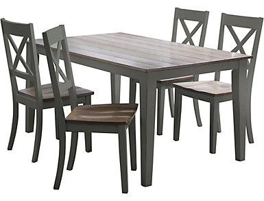 A la Carte Grey 5 Piece Table Set, , large