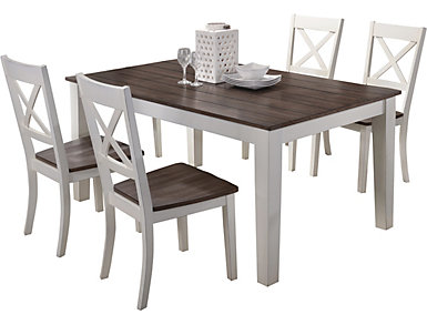Dining table and 4 chairs, , large