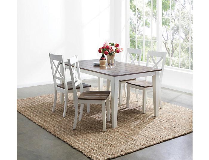 A la Carte White 5 Piece Table Set | Outlet at Art Van