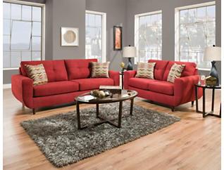 Stash Sofa & Loveseat Set, , large