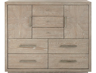 NB2 Casual Modern 7 Drawer - 2 Door Chest, , large