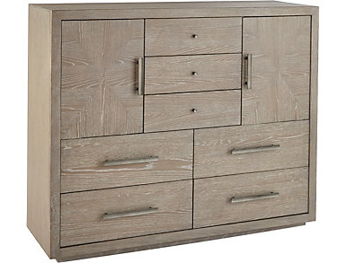 NB2 Casual Modern 7 Drawer  2 Door Chest, , large