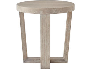 NB2 Brown Round End Table, , large