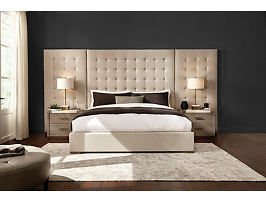 NB2 Casual Modern King Upholstered Bed, , large