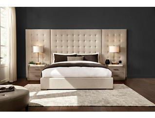 NB2 Casual Modern Queen Upholstered Bed, , large