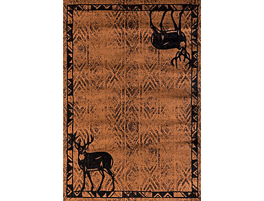 "Woodside Deer Brown Rug 63x86"", , large"