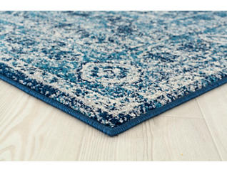 "Abigail Britta Midnight Blue 94 "" x 94 "" Round Rug, , large"