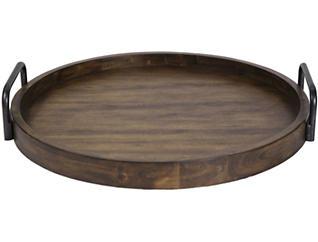 Reine Round Wooden Tray, , large