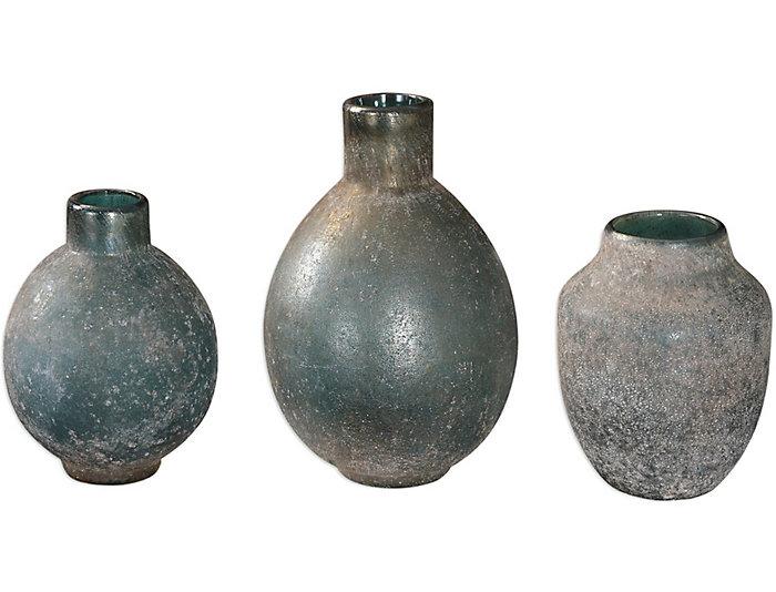 Mercedes Glass Vases Set Of 3 Art Van Home