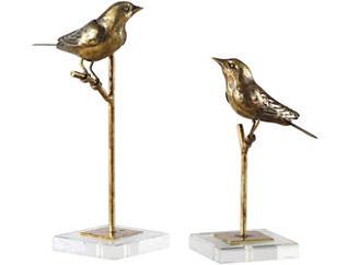 Bird Sculptures Set of 2, , large