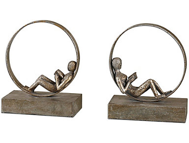 Lounging Bookends Set of 2, , large