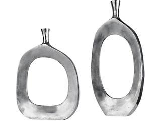 Cierra Nickel Vases, Set of 2, , large