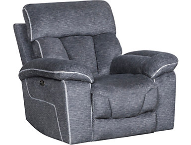 Gladiator Charcoal Power Recliner, , large