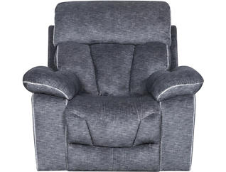 Gladiator Charcoal Power Glider Recliner, , large